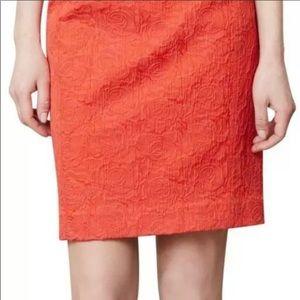 Anthropologie- Vanessa Virginia - Red Orange skirt